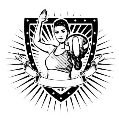 Sticker volleyball shield