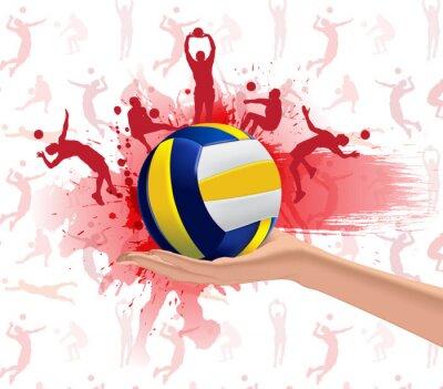 Sticker Volleyball sport design background