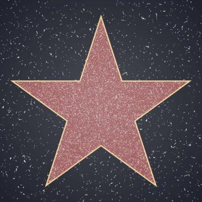 Sticker Walk Of Fame. star blank template