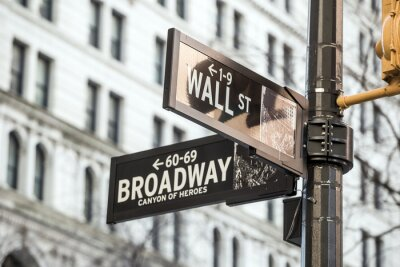 Sticker Wall street sign in New York