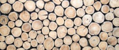 Sticker wallpaper wood log