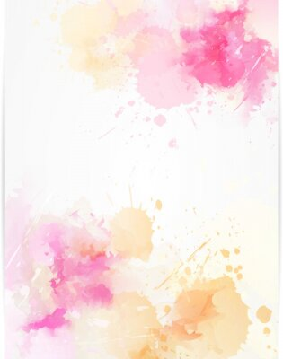 Sticker Watercolor abstract background with paint splashes.