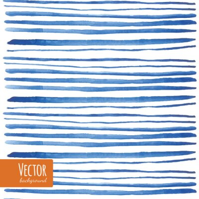 Sticker Watercolor blue strips in vector.