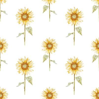 Sticker Watercolor sunflower pattern