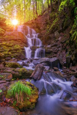 Sticker waterfall