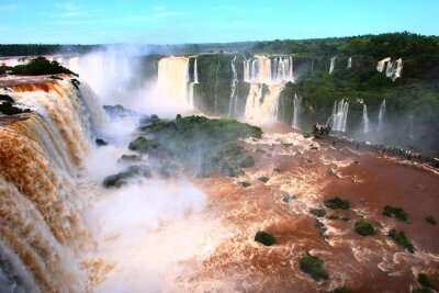 Sticker waterfall/ Iguazu Falls in Argentina