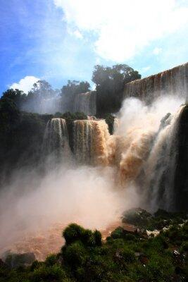 Sticker waterfall/ Iguazu Falls in Argentina