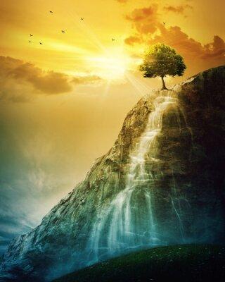 Sticker Waterfall tree