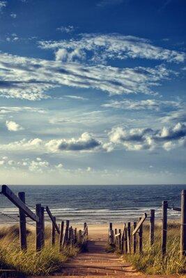 Sticker Weg zum Strand am Meer