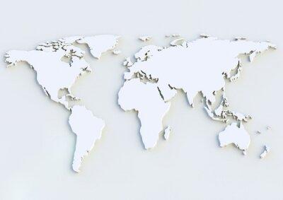 Sticker Weltkarte 3D - World map 3D
