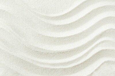 Sticker White sand texture background with wave pattern