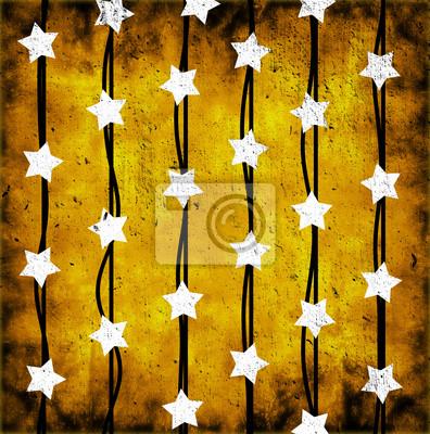 Sticker white stars
