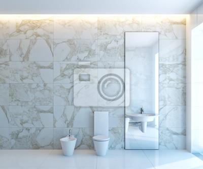 Sticker white WC