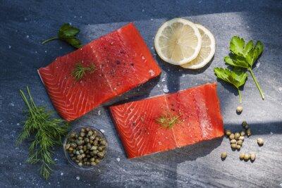Sticker Wild salmon steaks