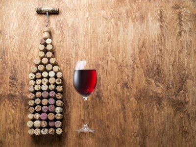 Sticker Wine corks in the shape of wine bottle.