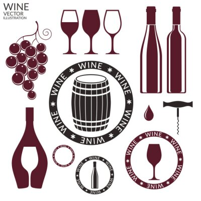 Sticker Wine. Set