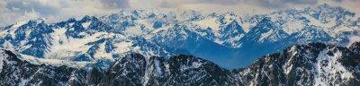 Sticker winter landscape of panorama Alps mountain