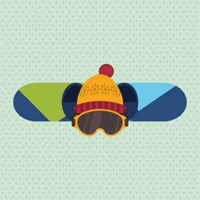 Sticker winter sport design