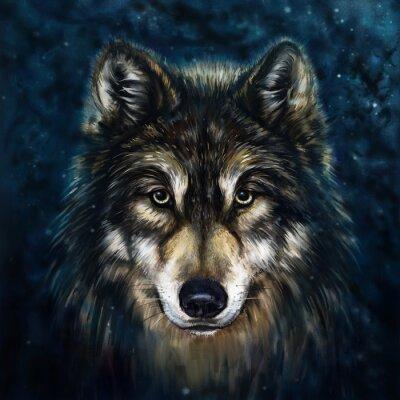 Sticker wolf front