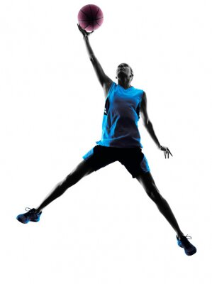 Sticker woman basketball player silhouette