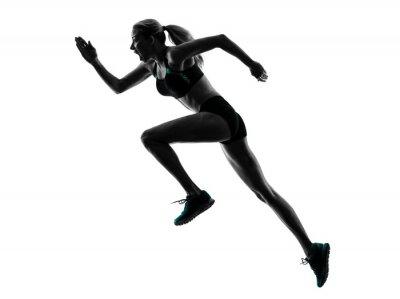 Sticker woman runner running jogger jogging silhouette