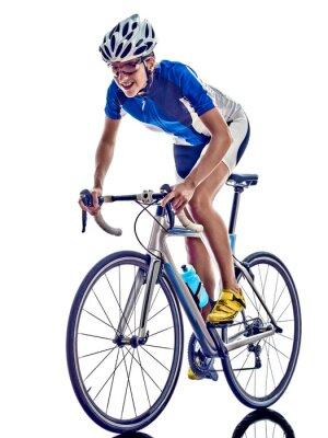 Sticker woman triathlon ironman athlete cyclist cycling