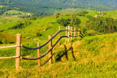 Wooden countryside fence