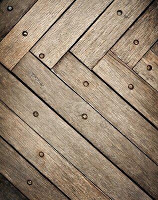 Sticker wooden plank