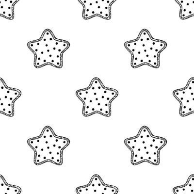 Sticker Wooden stars pattern 2