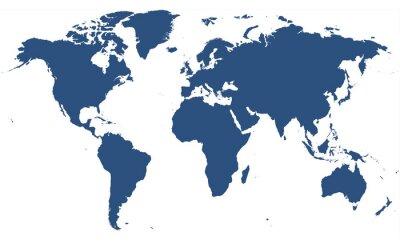 Sticker world map