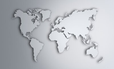 Sticker World Map. Image with clipping path