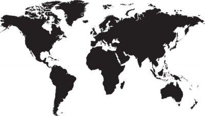 Sticker World map isolated on white background