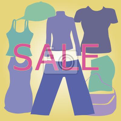 Изображение распродажи одежды