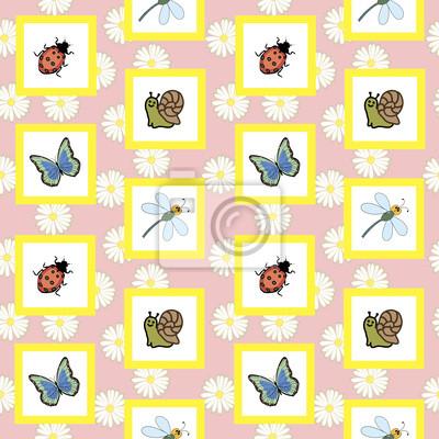 Бесшовное изображение насекомых