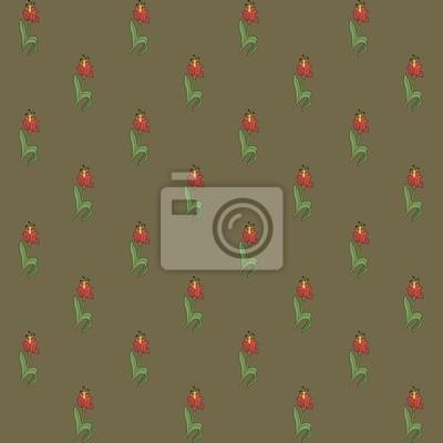 Бесшовное изображение цветов