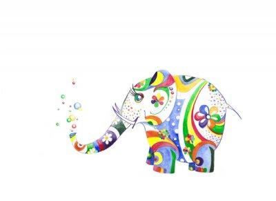 Sticker Цветной слонёнок