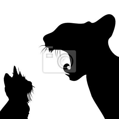 Силуэты котов