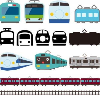 Sticker 電車と新幹線のアイコンとライン