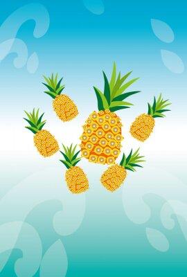 Sticker パイナップルとアクアのイメージ