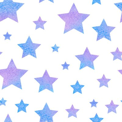 Sticker watercolor сute seamless pattern night sky for the textile fabric or wallpaper.