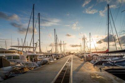 Sticker Yacht marina sunrise