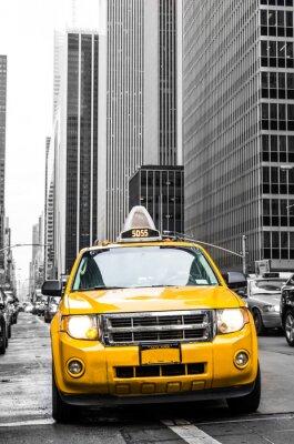 Sticker yellow cab of new york