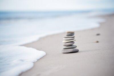 Sticker Yoga - Wellness - Steine am Nordseestrand