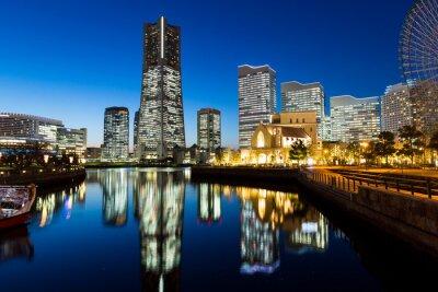 Sticker Yokohama cityscape at night