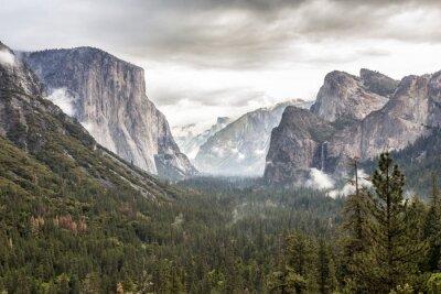 Sticker Yosemite Park kurz vor einem Sturm