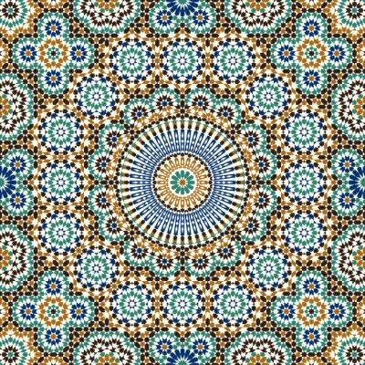 Sticker Zagora Seamless Pattern Six