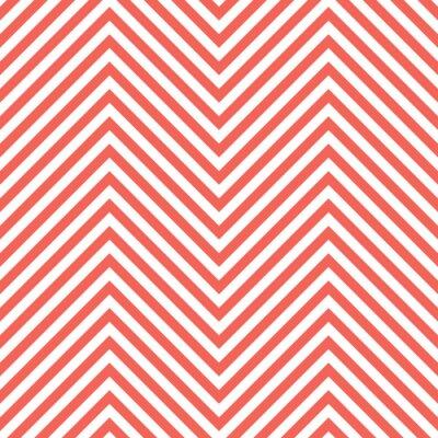 Sticker Zigzag Red Pattern. Wave Background in Vector