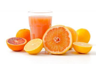 Sticker Zitrusfrüchte und Saft
